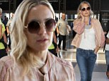 No rest for the wicked! Kate Hudson jets out of Los Angeles... just one day after flying in