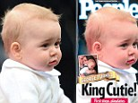 The young prince is on the latest cover of People magazine with noticeably redder lips than the original photo snapped touring Australia in April