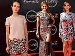Hot in heavy metal! Cheryl Burke sparkles in silver as Jordana Brewster and Amy Purdy work the metallic trend at Espy Awards