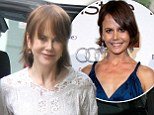 Double take! Nicole Kidman channels her TV presenter sister Antonia in the same short brown bob on set of her latest movie with co-star Jason Bateman