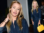 Iggy Azalea covers up in head-to-toe denim hours after flaunting her hourglass figure at the ESPY awards
