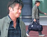 Meeting the parents? Sean Penn spotted arriving in Cape Town without South African girlfriend Charlize Theron