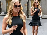 LeAnn Rimes puts an ab fab twist on little black dress as she promotes new reality show