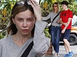 Au naturel: Calista Flockhart went make-up free ass he took her son Liam shopping at Adventure 16 in Los Angeles on Wednesday