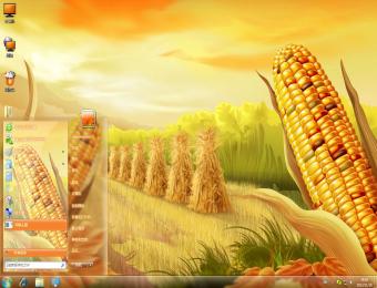 玉米熟了win7桌面主题主题下载