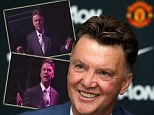 New boss: Van Gaal on his first day as United manager