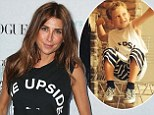 Little support: Jodhi Meares hangs out with her super-sweet godson Kellan ahead of facing court over drink-driving charges as she calls him ¿the upside to everything¿