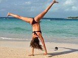 'Finally on vacation!' Gisele took a break from the exhausting task of modelling... and celebrated with a cartwheel on the beach