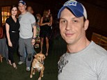 Tom Hardy brought along his pooch Woodstock as he enjoyed a night out with his wife Charlotte in London