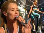 Sporty Spice: Iggy Azalea channeled Mel C is an athletic costume as she performed at the ESPY Awards in LA on Wednesday