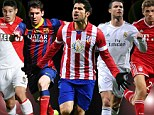 Diego Costa only Premier League player to make short-list for top European player as he goes up against Lionel Messi and Cristiano Ronaldo for top gong