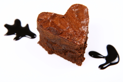 Heart Shaped Brownie