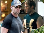 Stifler would be proud! Seann William Scott shows off his muscular body in tight shirt... 15 years after starring in teen comedy American Pie