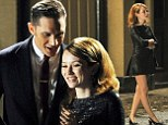 Getting the giggles: Tom Hardy made Emily Browning laugh as they filmed scenes for Legend