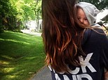 Too cute: Olivia Wilde shared this picture of her son Otis