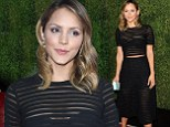 Bra-vo! Katharine McPhee flashes her underwear and midriff in sheer black crop top and skirt while promoting new show