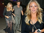 Cause for celebration? LeAnn Rimes dons sheer black skirt for expensive dinner with Eddie Cibrian... as their new reality show airs