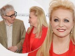 Lady in red: Jacki Weaver steps out at the premiere of Magic In The Moonlight in New York on Thursday