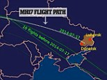Is this proof that MH17 change course into a war zone? A route map compiled by Twitter user Vagelis Karmiros using data from flight-tracking website Flightaware claims to show how the doomed Malaysia Airlines plane took a different flightpath to the ones taken by the previous ten MH17 flights
