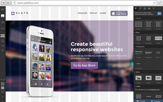 Visually Design Responsive Websites For Free - Webflow