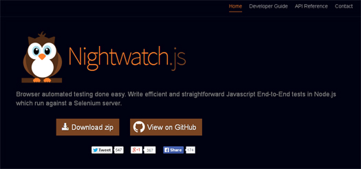 Browser Automated Testing - Nightwatch.js