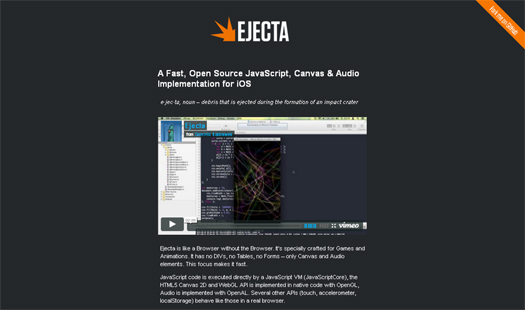 Open Source JavaScript, Canvas & Audio Implementation for iOS - Ejecta
