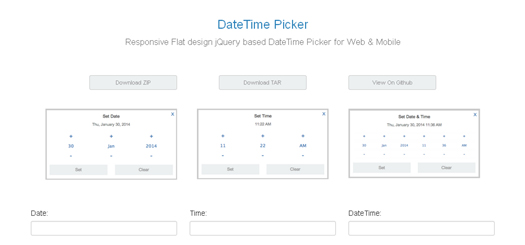 Responsive jQuery DateTime Picker Plugin - DateTime Picker