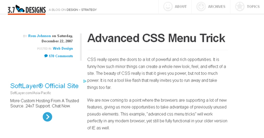 Advanced CSS Menu Trick