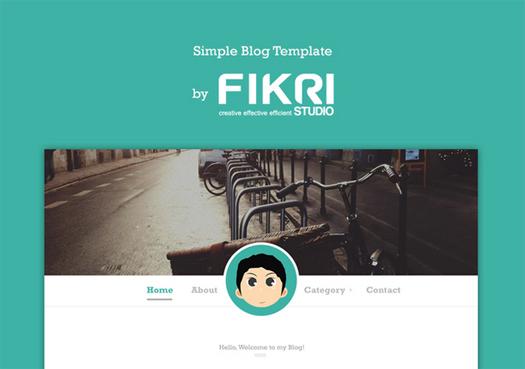 Free Simple Blog PSD Template