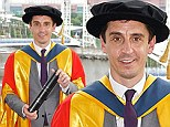 Top of the class: Gary Neville awarded honorary doctorate by University of Salford