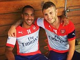 Raring to go: Wilshere posted a picture after he returned early to Arsenal training after the World Cup