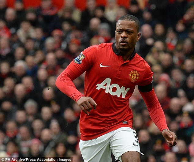 Veteran: But Patrice Evra will be leaving Manchester United this summer and heading for Italy