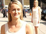 White is the new black! Taylor Schilling shuns colour yet again in a simple but chic look