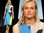 Stylish shapes! Diane Kruger dons a geometric design to make a fashionable statement to promote her show The Bridge