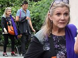 She's not hanging Solo! Star Wars actress Carrie Fisher steps out with mystery man in London