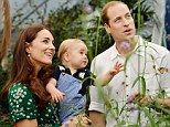 Celebrations: The Duke and Duchess of Cambridge with Prince George during a visit to the Sensational Butterflies exhibition at the Natural History Museum in London