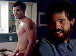 Bearded Taylor Lautner shows off his sculpted torso as he goes topless in trailer for comedy show Cuckoo
