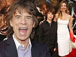 Mini me: Mick Jagger's youngest son Lucas is the spitting image of him as he arrives with mother Luciana Gimenez at Get On Up premiere