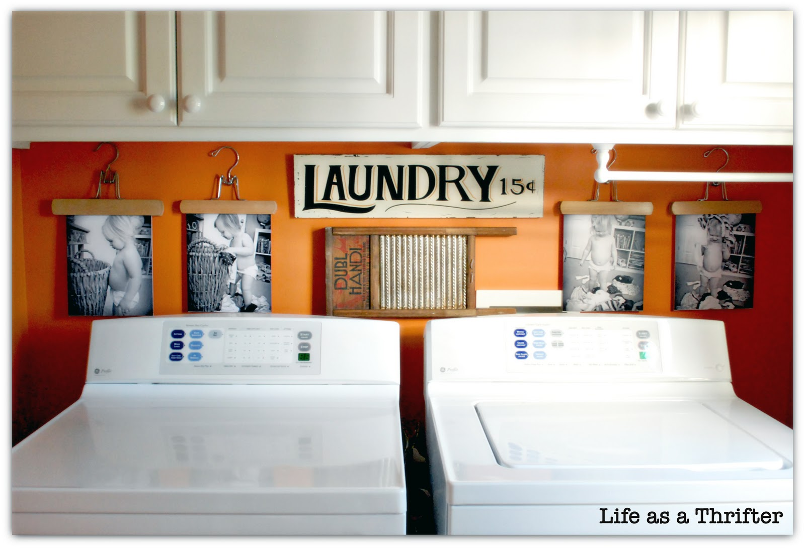 Life as a Thrifter: DIY Laundry Room Display