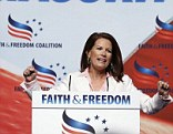 Party like its 2012: Rep. Michele Bachmann, pictured here at the Faith & Freedom Coalition's Road to Majority Conference in June, says there's a 'chance' she'll run for president again in 2016