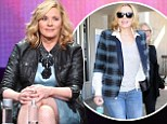 Kim Cattrall ditches scruffy ensemble for glam blue dress and leather jacket for TCA panel