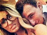 It must be love: In the last day or so, Johnny Manziel and Colleen Crowley have both shared intimate photos of them kissing and hugging each other