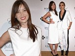 Daisy Lowe looks effortlessly chic in elegant gown as she attends Leonardo DiCaprio Foundation gala