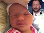 'I take 10,000 pictures of her a day': Proud papa Jimmy Kimmel introduced daughter Jane born two weeks ago