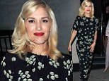 Not exactly date night! Gwen Stefani steps out in floral jumpsuit while out to dinner with husband Gavin Rossdale AND baby son Apollo in London