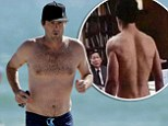 No body double here! Luke Wilson reveals his beach body at 42... eight years after calling in a lookalike for nude scene