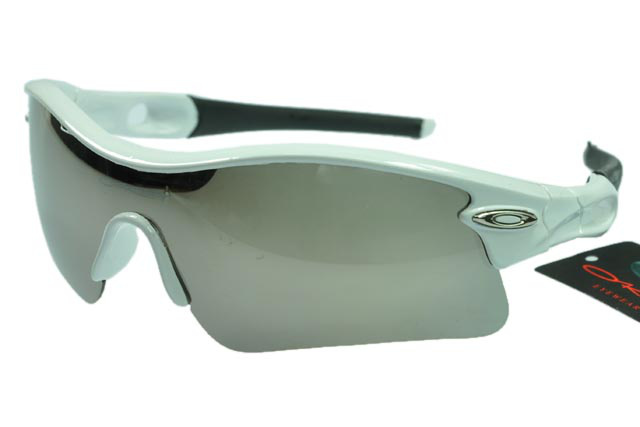 Wholesale Oakley Radar Sunglasses Grey Lens Silver Frame Online