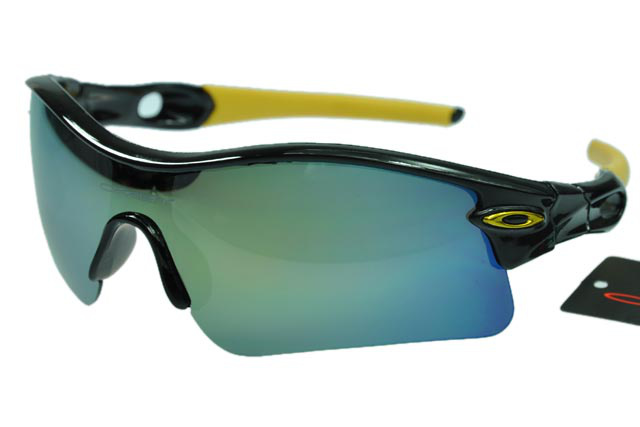 Wholesale Oakley Radar Sunglasses blue Lens Black Frame On Sale