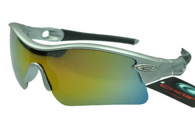 Wholesale Oakley Radar Sunglasses Gold Lens Silver Frame On Sale
