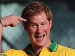 Holiday royalty: The public figure men and women agree would be great to take on holiday is Prince Harry